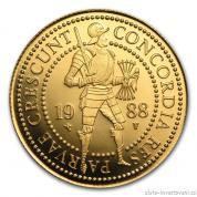 Zlatá mince holandský dvojdukát-proof
