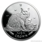 Investiční stříbrná mince Kočky Manx-2015