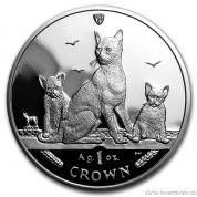 Investiční stříbrná mince Kočky Manx-2016
