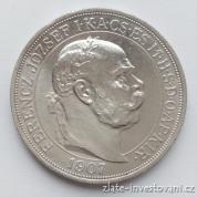 Stříbrná Pětikoruna Františka Josefa I.-40.let korunovace 1907