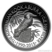 Stříbrná mince australský Kookaburra 2015-vysoký reliéf Proof