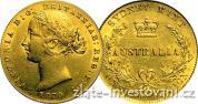 Zlatý australský Sovereign-Victoria 1855-1870