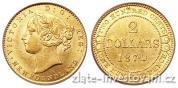 Zlatý kanadský 2 dollar-New Foundland 1865-1888 Victoria