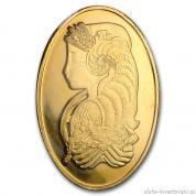 Investiční zlatá oválná cihla Fortuna-PAMP
