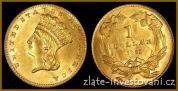 Zlatá mince 1 dollar-Princezna