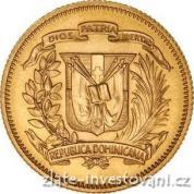 Zlatá mince 30 pesos-Dominikánská republika 1974