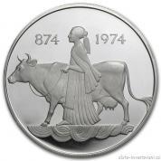 Investiční stříbrná mince 500 kronur-1974