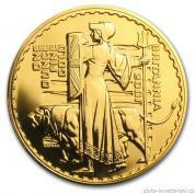 Investiční zlatá mince Britannia 2001