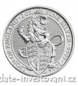 Investiční stříbrná mince Lev královny Anglie 2016