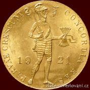 Zlatý nizozemský Dukát 1921