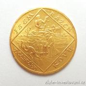 Zlatý čtyřdukát 1928-Jsem ražen českého kovu-Sv.Prokop