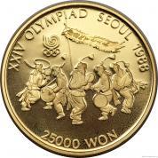 Zlatá mince Tanečníci -1985-Korea