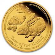 Investiční zlatá mince rok králíka 2011
