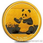 Investiční zlatá mince čínská Panda 2017