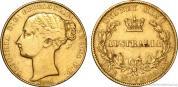 Zlatá mince australský Sovereign-Victoria 1870