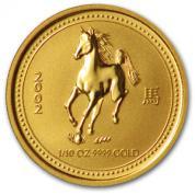 Investiční zlatá mince rok koně 2002