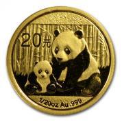 Investiční zlatá mince čínská Panda 2012