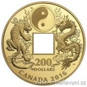 Zlatá mince Tygr a drak 2016-Proof