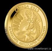Zlatá mince Vidloroh-2013 Kanada