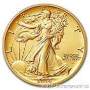 Zlatá výroční mince Půl dollar 100.výročí  Walking Liberty  2016