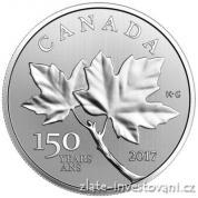 Stříbrná mince Javorové listy 2017-150. výročí Kanady