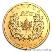Investiční zlatá mince Kanadský Maple Leaf-25.výročí 2004