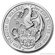Investiční stříbrná mince Drak královny Anglie 2017