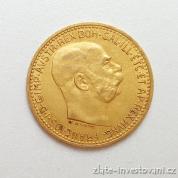 Zlatá mince  Desetikoruna Františka Josefa I.- rakouská ražba 1911-velká hlava