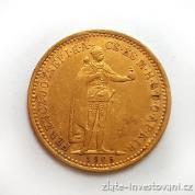 Zlatá mince  Desetikoruna Františka Josefa I.- uherská ražba 1905 KB