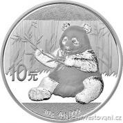 Investiční stříbrná mince Panda 2017