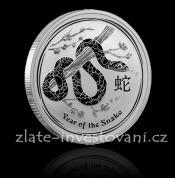 Investiční stříbrná mince rok hada 2013