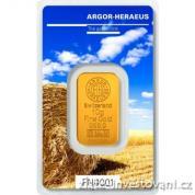 Investiční zlatá cihla Argor Heraeus-Léto 2017 limitovaná edice