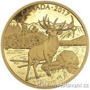 Zlatá mince Elk 2017-proof-350 dolarů -Kanada