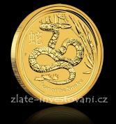 Investiční zlatá mince rok hada 2013-lunární série II.