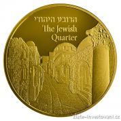 Zlatá mince Židovská čtvrť-série Views of Jerusalem 2017
