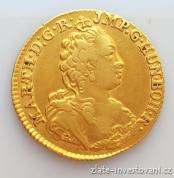 Zlatý Suvereain D´or Marie Terezie 1750-Antverpy