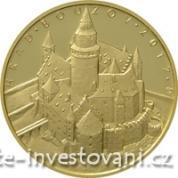 Zlatá mince Hrad Bouzov 2017-Proof