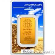Investiční zlatá cihla Argor Heraeus-Léto 2017 limitovaná edice Švýcarsko