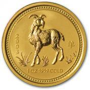 Investiční zlatá mince rok Kozy 2003-lunární série I.
