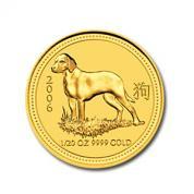 Investiční zlatá mince rok Psa 2006