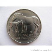 Stříbrná  50. koruna Kůň Převalského  1987
