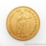 Zlatá mince  Desetikoruna Františka Josefa I.- uherská ražba 1894 KB