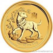 Investiční zlatá mince rok Psa 2018-lunární série II.