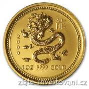 Investiční zlatá mince rok draka 2000