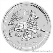 Investiční stříbrná mince Rok psa 2018-lunární série II. -