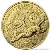 Investiční zlatá mince lunární rok Psa 2018- British Royal Mint