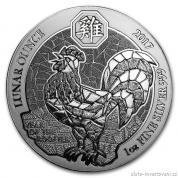 Stříbrná mince rok kohouta 2017-Rwanda