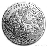 Investiční stříbrná mince lunární rok Psa 2018- British Royal Mint