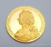 Zlatá dukátová medaile Marie Terezie -  Čtyřdukát-proof