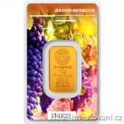 Investiční zlatá cihla Argor Heraeus-Podzim 2018  limitovaná edice Švýcarsko